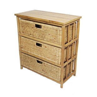 Open Sides 3 Drawer Accent Che..