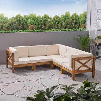 Patio Furniture & Accessories Anself Brown Outdoor Rattan Sun Bed ...