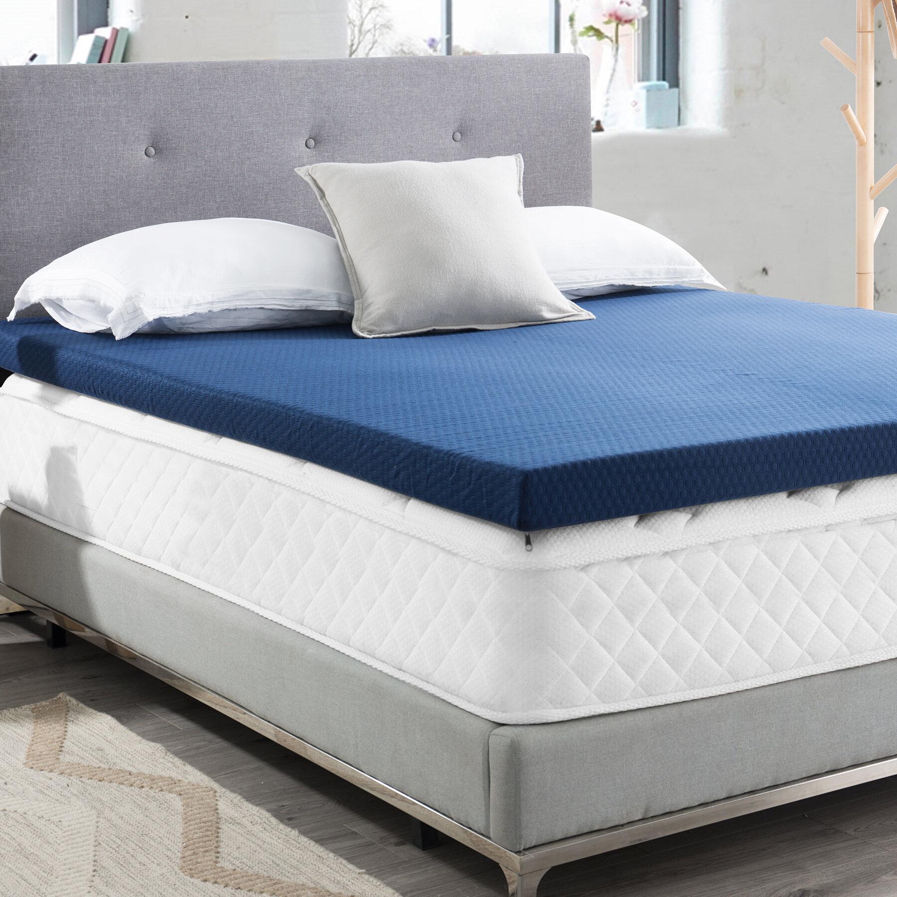 Full Memory Foam Mattress Topper Bed Pad 8 Inch Green Tea Infused
