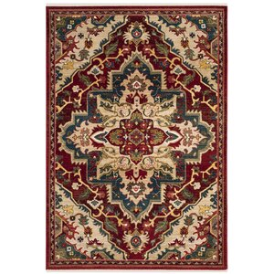 Murphy Traditional Red Oriental Area Rug