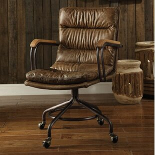 17 Stories Littell Genuine Leather Executive Chair