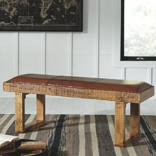 Union Rustic Brinker Accent Wood Bench
