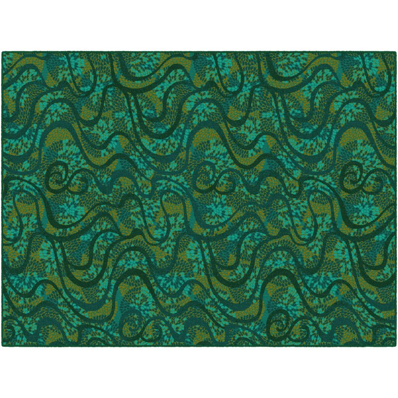 Latitude Run Decimus Green Area Rug, Size: Rectangle 76 x 10