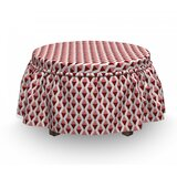 Vertical Alignment Ottoman Slipcover (Set of 2) by East Urban Home