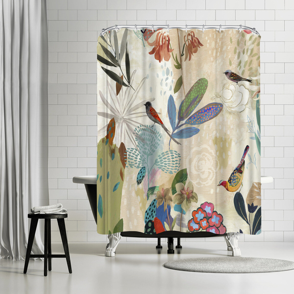 East Urban Home Pi Creative Art Where The Passion Flower Grows I Single Shower Curtain Reviews Wayfair
