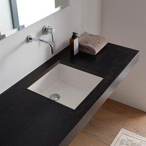 square bathroom sinks. Miky Ceramic Square Undermount Bathroom Sink Modern Sinks  AllModern