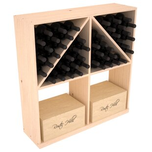 Red Barrel Studio Karnes Pine 96 Bottle Floor Wine Rack