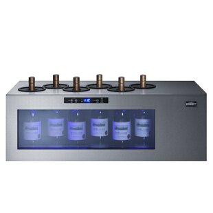 6 Bottle Open Single Zone Freestanding Wine Cooler