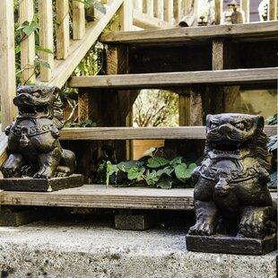 Volcanic Ash Guardian Lion Statue by My Spirit Garden