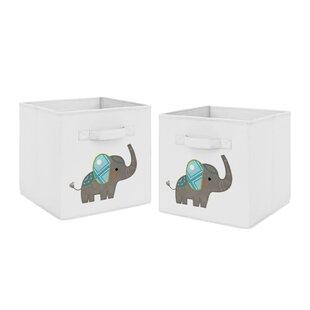 Elephant Fabric Storage Cube