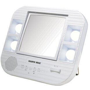 Reviews LED Lighted Mirror with Bluetooth Makeup/Shaving Mirror By Jerdon