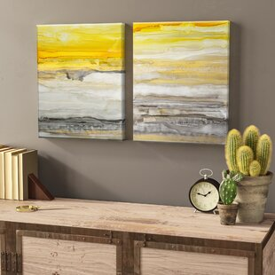 New Sunset I/II by Norman Wyatt Jr - 2 Piece Painting Print on Canvas (Set of 2)