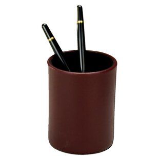 Dacasso 7000 Series Contemporary Leather Pencil Cup in Burgundy