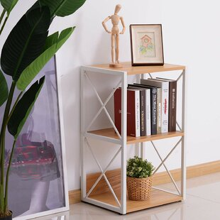 Kindel 3 Tier Wood X-Frame End Table by Ebern Designs