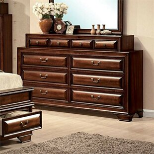 Lightner Wooden 10 Drawer Double Dresser