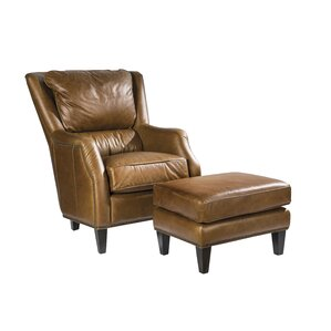 Scottsdale Leather Ottoman by Palatial Furniture