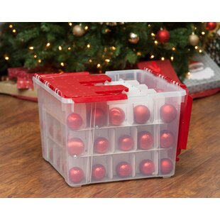 ornament storage box set of 2 - Christmas Decoration Storage Box
