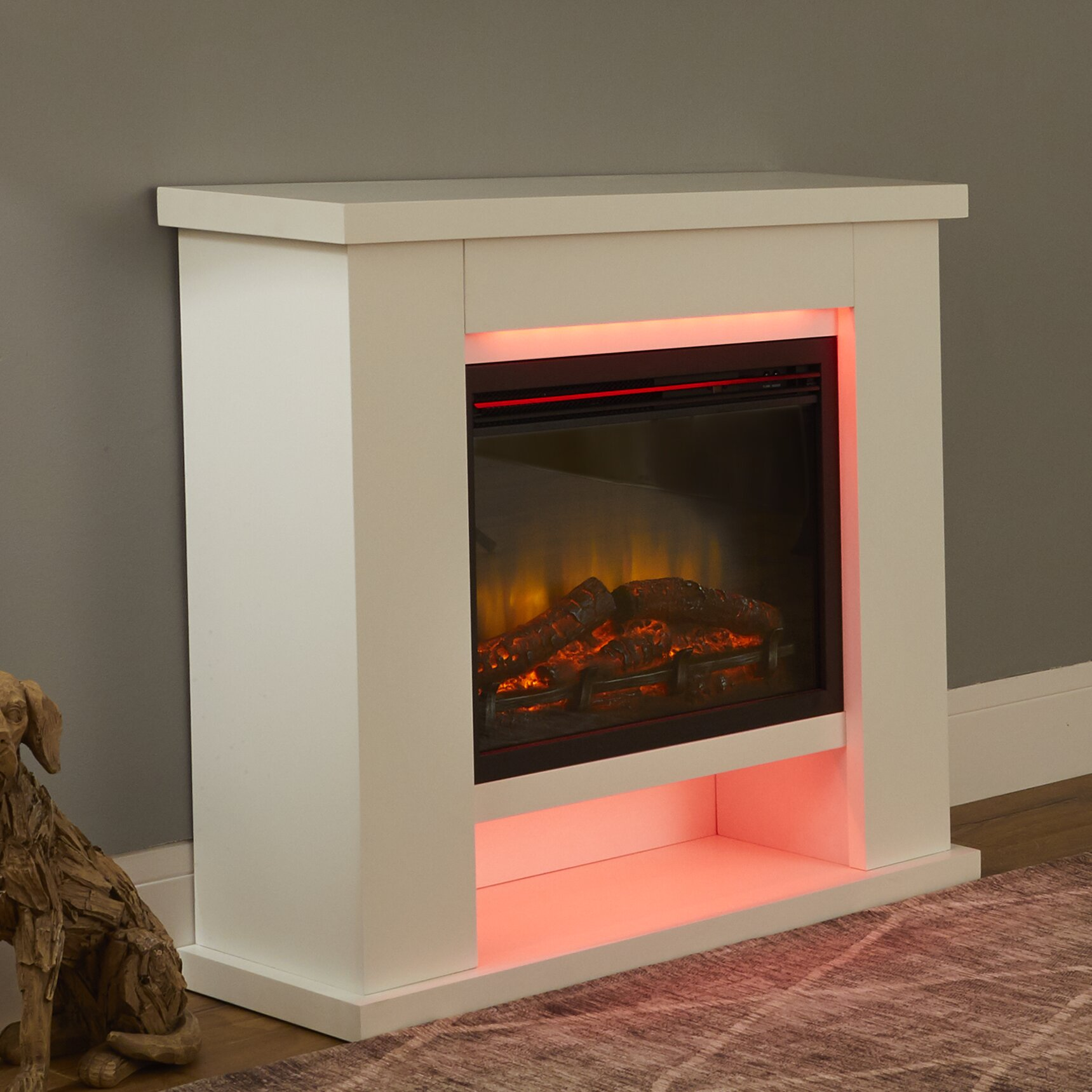 Belfry Heating Larry Electric Fire Suite Reviews Wayfair Co Uk