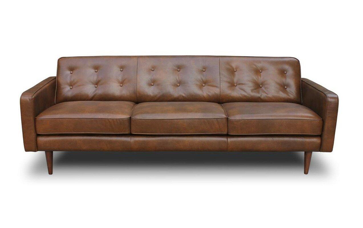 trevor mid century modern leather sofa. corrigan studio trevor mid century modern leather sofa  reviews