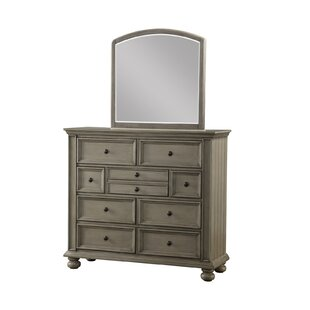 Lecia 9 Drawer Double Dresser with Mirror