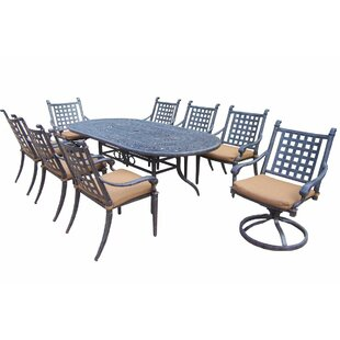 Darby Home Co Arness 12 Piece Checkered Dining Set and Lounge Set