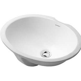 Great Price Papatya Vanity Ceramic Oval Undermount Bathroom Sink with Overflow By Duravit