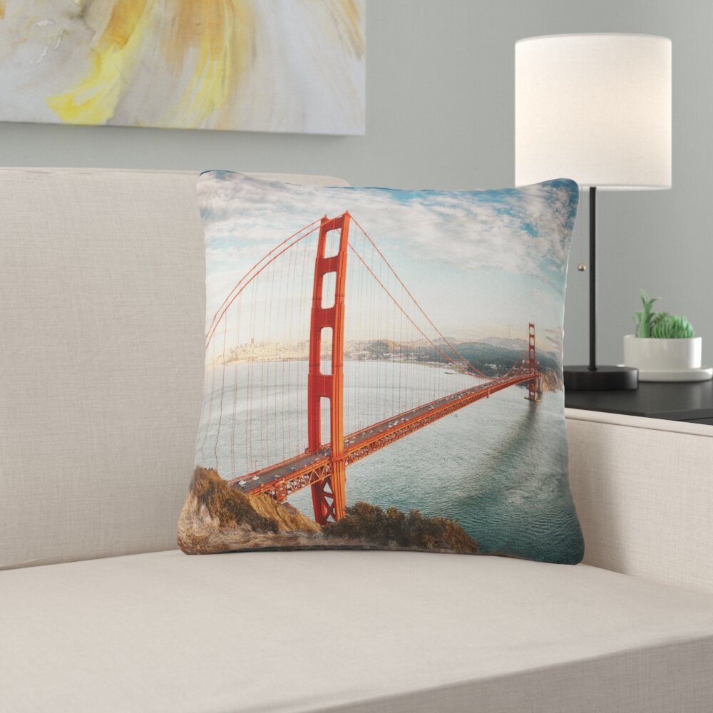 East Urban Home Gate Bridge In San Francisco Sea Bridge Pillow Wayfair Ca