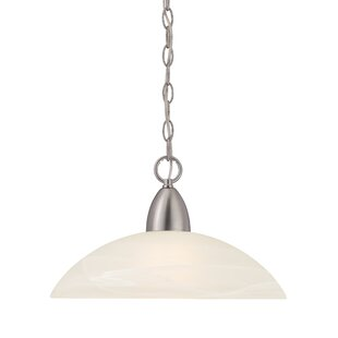 Charlton Home Jefferson 1-Light Glass Shade Mini Pendant