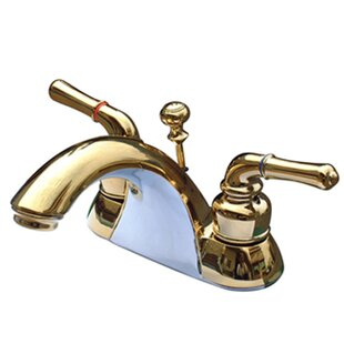 Naples Centerset Bathroom Sink Faucet with ABS/Brass Pop-Up Drain By Kingston Brass