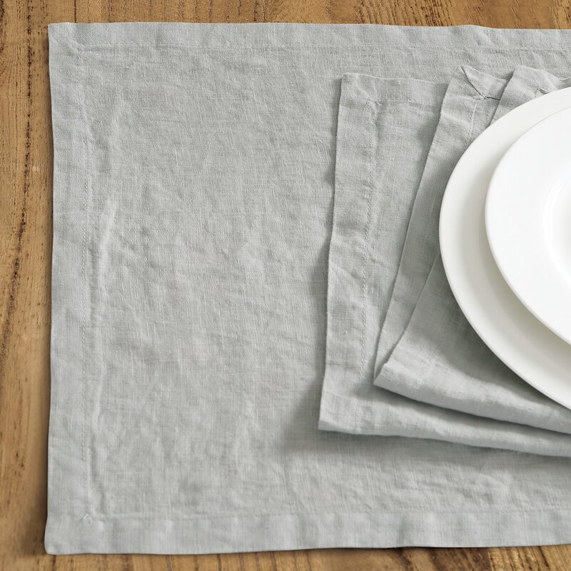 "Catuzzi Washed Belgian Linen 19"" Placemat"