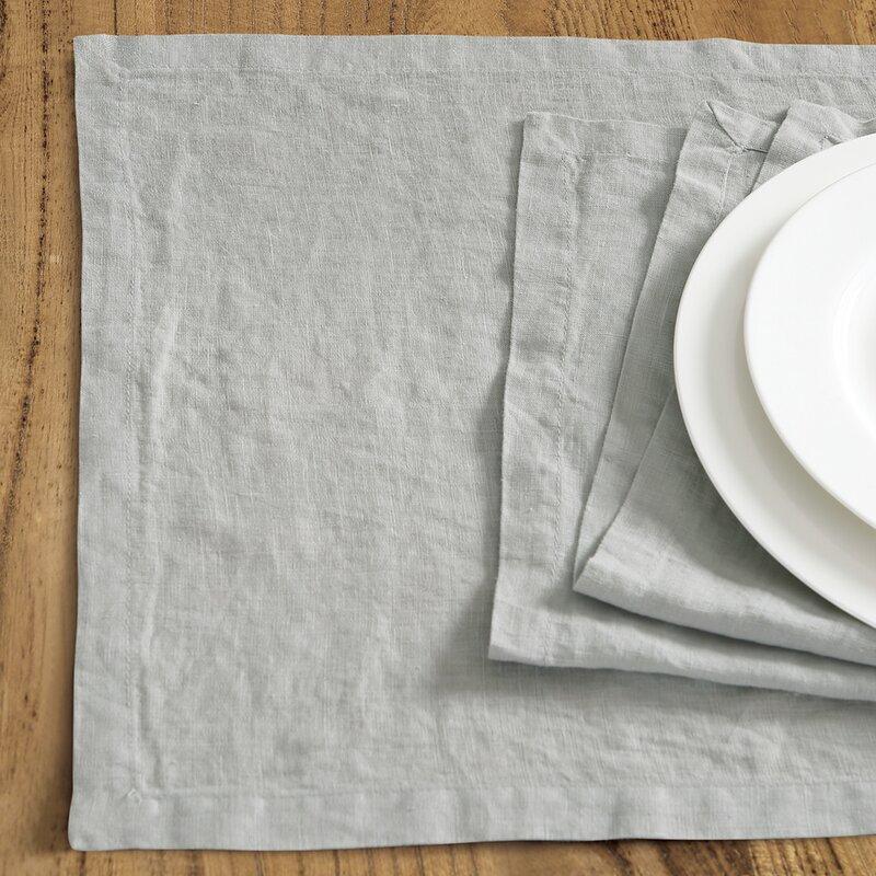 "Catuzzi Washed Belgian Linen 19"" Placemat"
