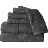 Haughton Plush 6 Piece 100% Cotton Towel Set