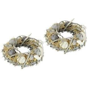 Egg 21cm Artificial Wreath (Set Of 2) By The Seasonal Aisle