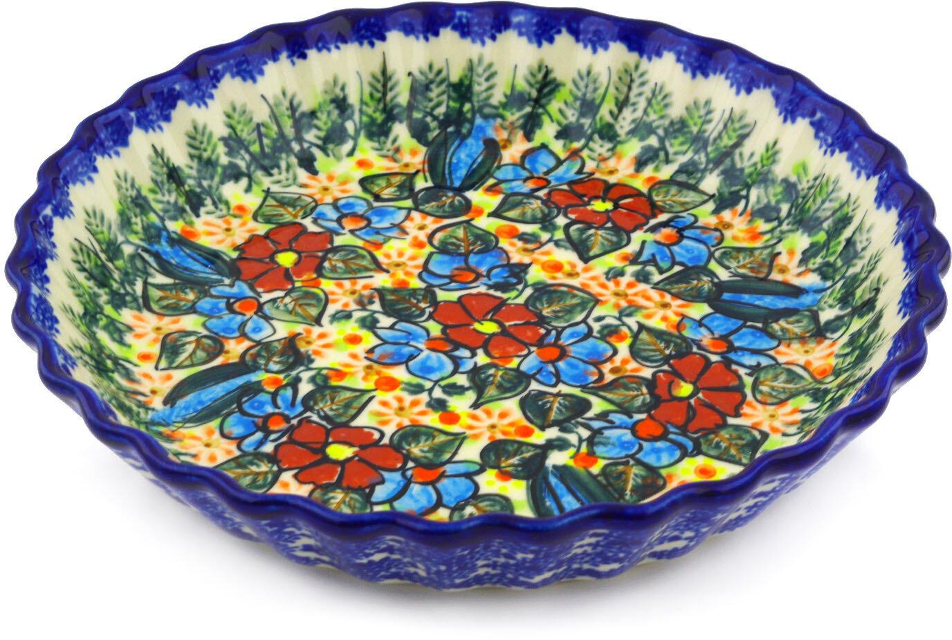 Polmedia Polish Pottery Fluted Pie Dish Wayfair