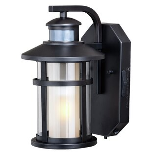 Compare Engler Outdoor Wall Lantern with Motion Sensor By Breakwater Bay
