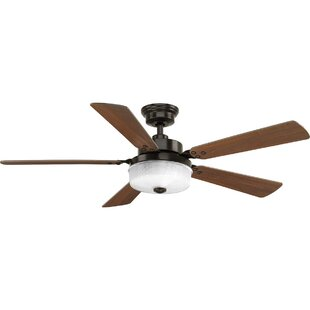 Red Barrel Studio Vanetten 5 Blade LED Ceiling Fan with Remote