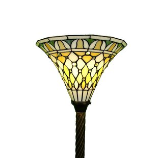 Warehouse of tiffany floor lamps youll love wayfair torchiere 69 torchiere floor lamp by warehouse of tiffany audiocablefo