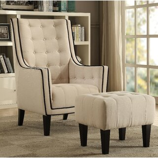 Chandler Armchair and Ottoman by Longshore Tides