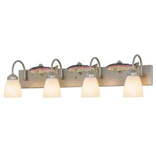 Meyda Tiffany Greenbriar Oak Trout 4-Light Vanity Light