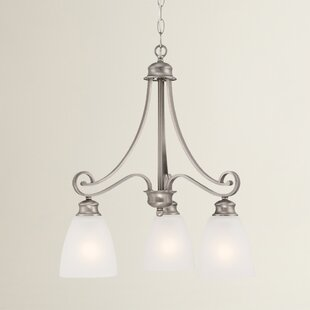 Fleur De Lis Living Elinor 3-Light Shaded Chandelier
