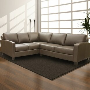Adeen Leather Sectional By Coja