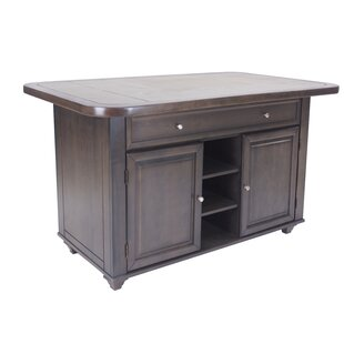 Loon Peak Irie Shades of Gray Kitchen Island
