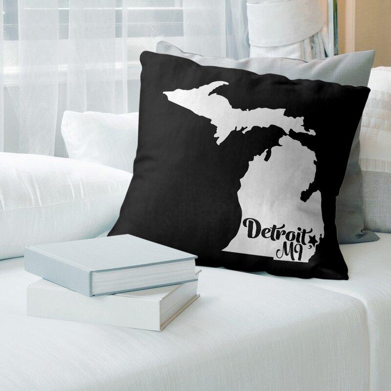 East Urban Home Michigan Throw Pillow Wayfair
