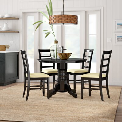 Langwater Traditional 5 Piece Wood Dining Set Beachcrest Home