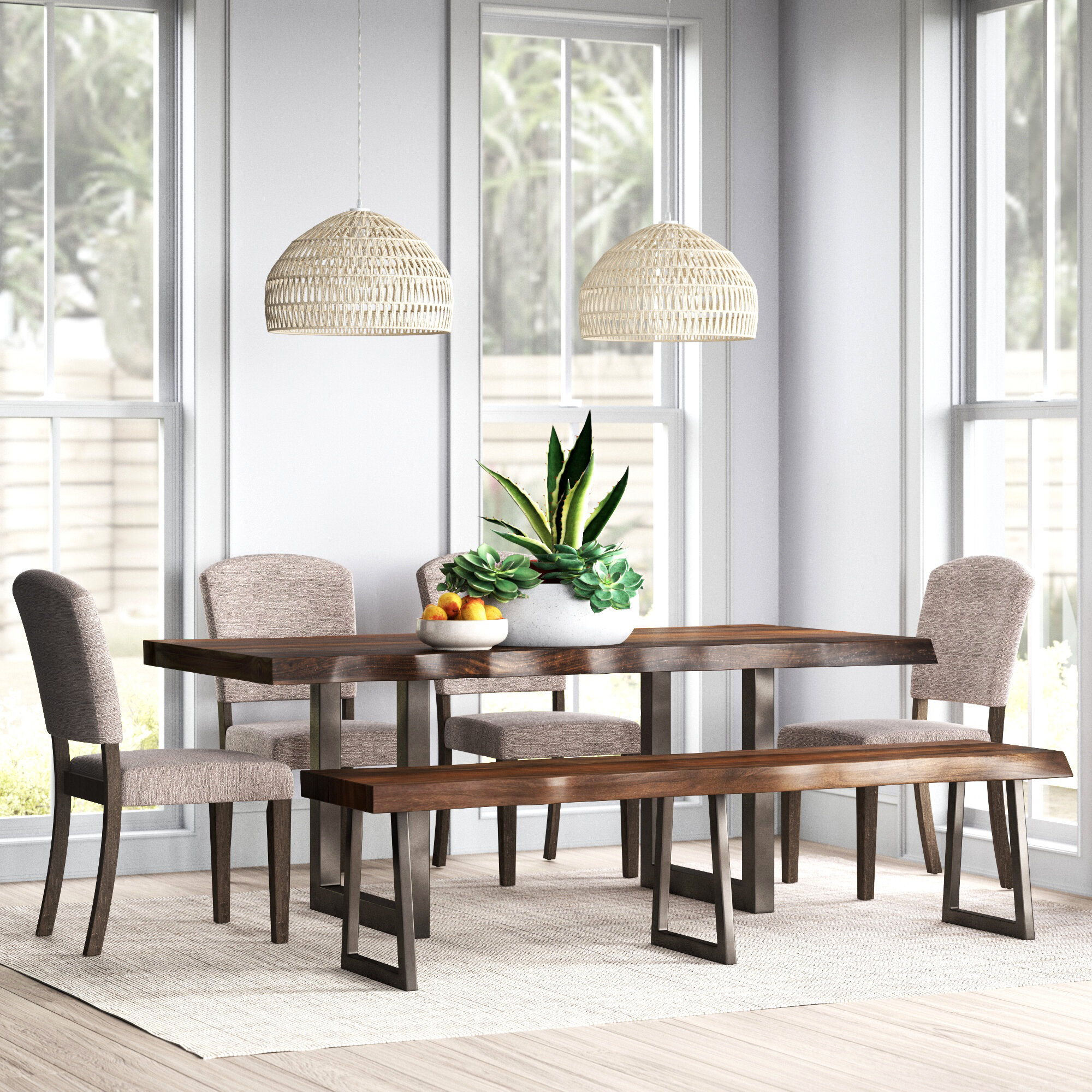 Bench Kitchen & Dining Room Sets You'll Love in 9   Wayfair