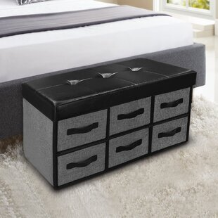 Surya Tufted Storage Ottoman by Ebern Designs