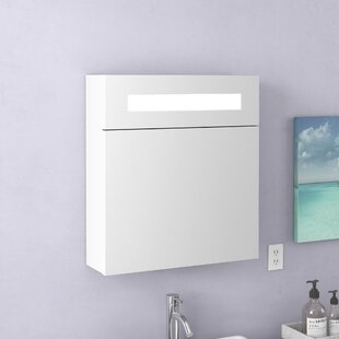 Inexpensive Knott 19.63 x 21.63 Surface Mount Medicine Cabinet with Lighting By Zipcode Design