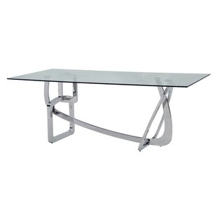 Orren Ellis Clower Steel Base Dining Table