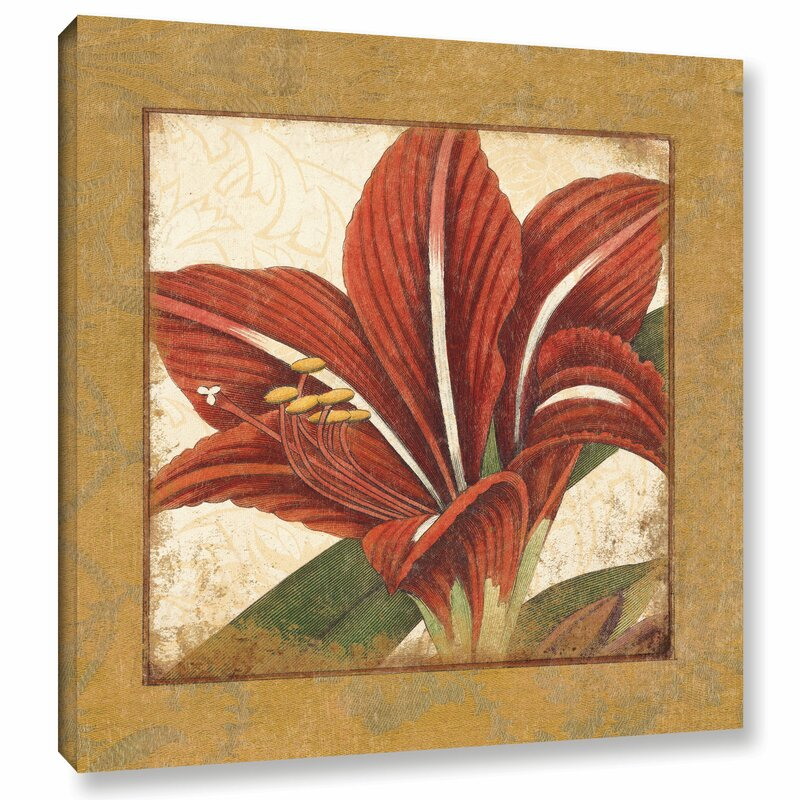 Bay Isle Home Amaryllis Bloom Graphic Art On Wrapped Canvas Wayfair