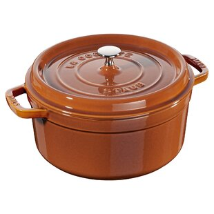 Staub Cast Iron 5.5 Qt. Shallow Wide Round Dutch Oven